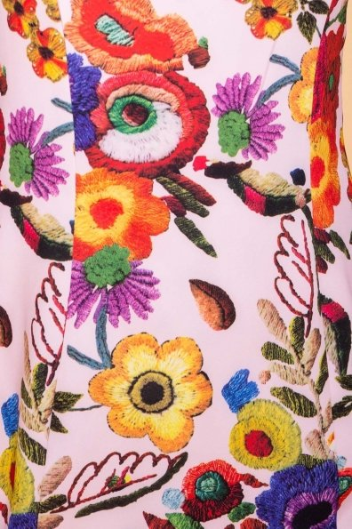 Платье Клеопатра 6662 Цвет: цветы комби молоко/ темная пудра
