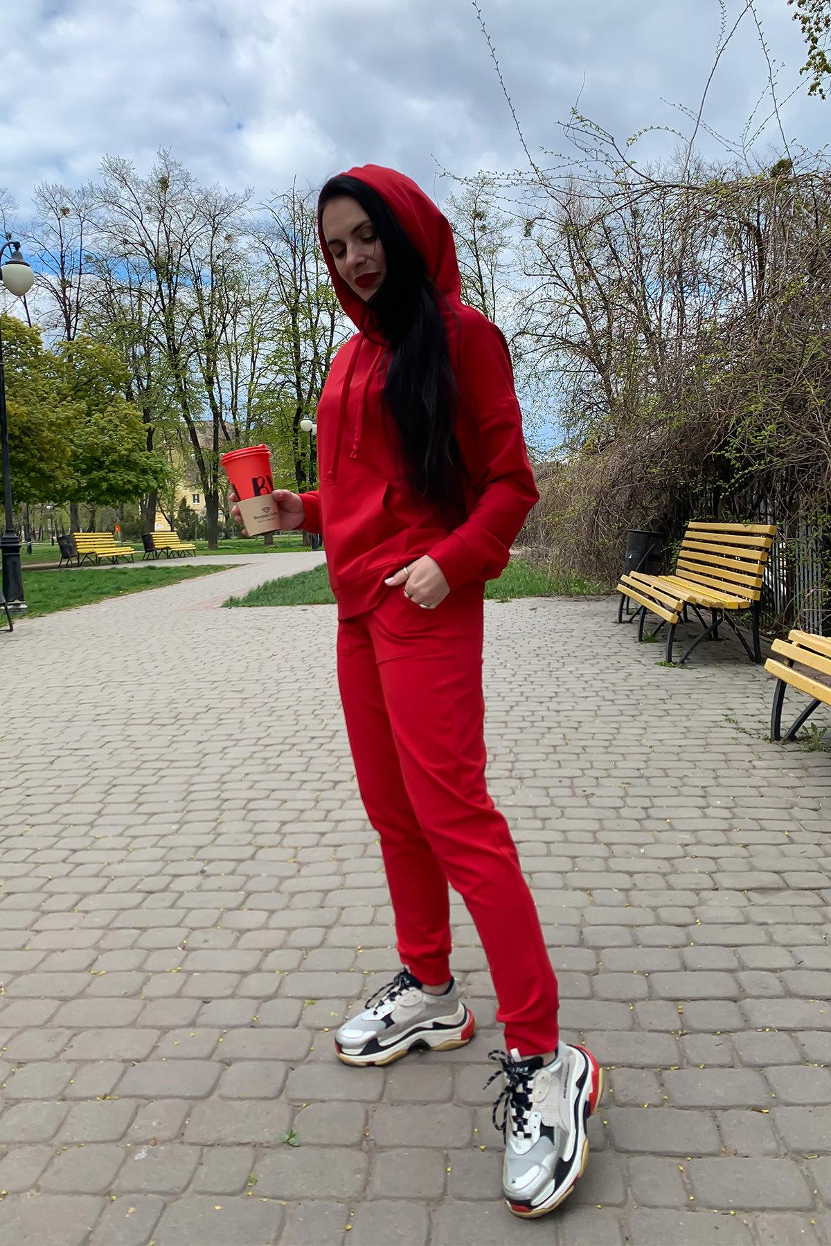 Викки   костюм  прогулочный трикотажный двунитка  9177 АРТ. 45508 Цвет: Красный - фото 3, интернет магазин tm-modus.ru