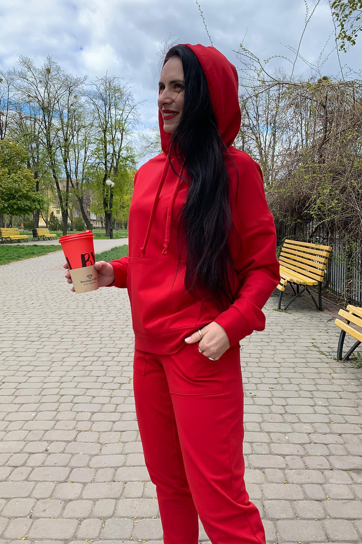 Викки   костюм  прогулочный трикотажный двунитка  9177 АРТ. 45508 Цвет: Красный - фото 4, интернет магазин tm-modus.ru