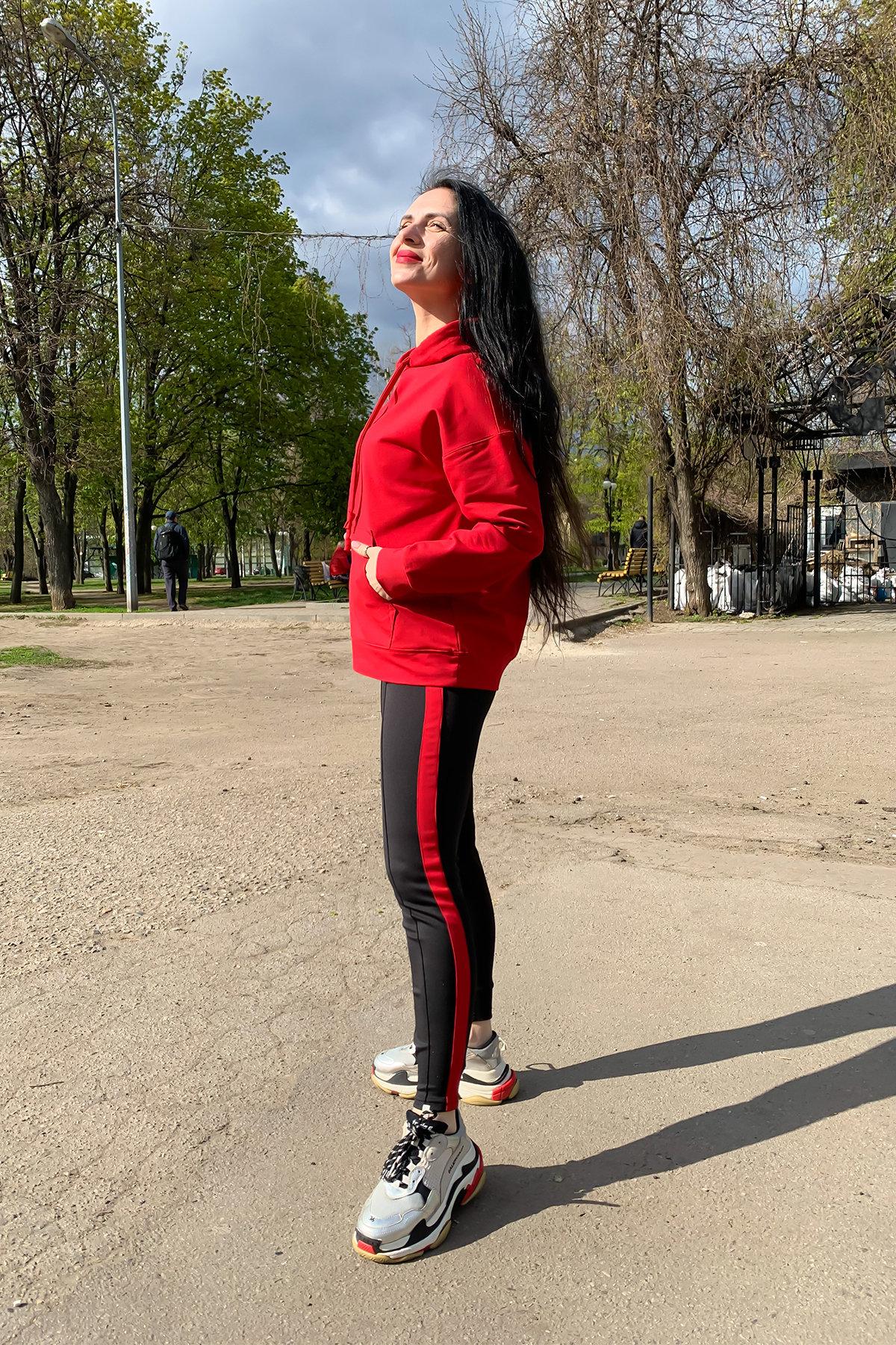 Костюм Вайт 9173 АРТ. 45493 Цвет: Красный/черный - фото 3, интернет магазин tm-modus.ru