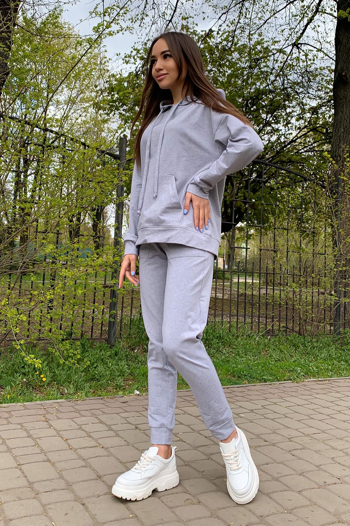 Викки   костюм  прогулочный трикотажный двунитка  9177 АРТ. 45509 Цвет: Серый меланж - фото 3, интернет магазин tm-modus.ru