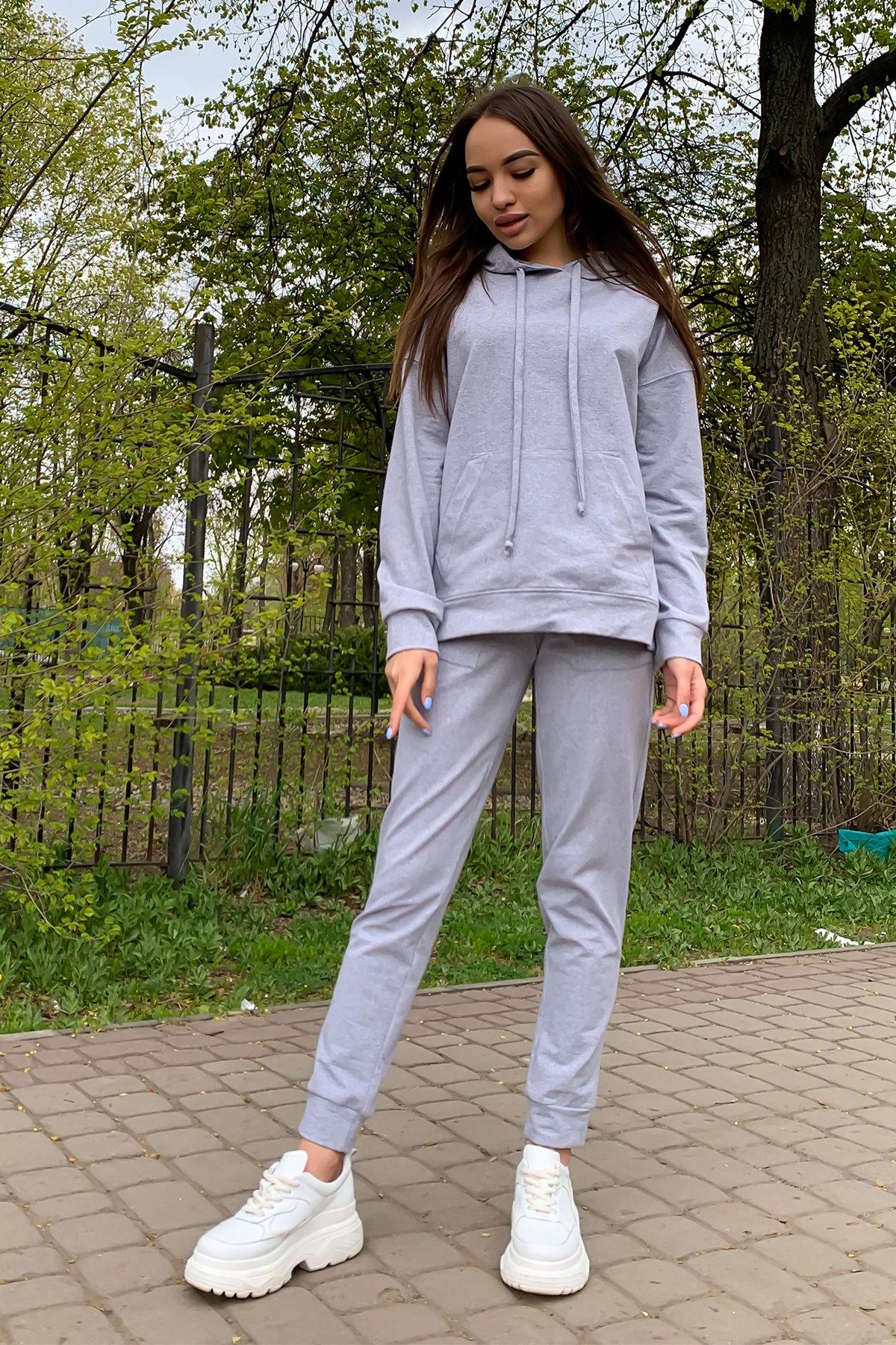 Викки   костюм  прогулочный трикотажный двунитка  9177 АРТ. 45509 Цвет: Серый меланж - фото 4, интернет магазин tm-modus.ru