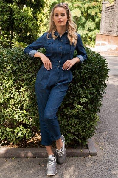 Купить Сафира коттон джинс стрейч комбинезон 8859 оптом и в розницу