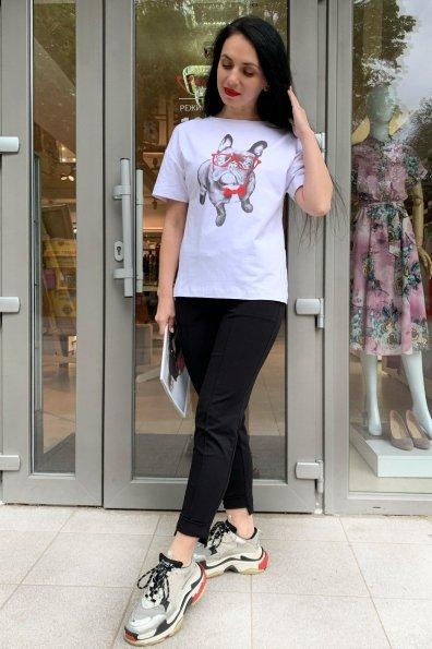 Купить Чаппи вискоза однотонная стрейч хлопок футболка 9196 оптом и в розницу