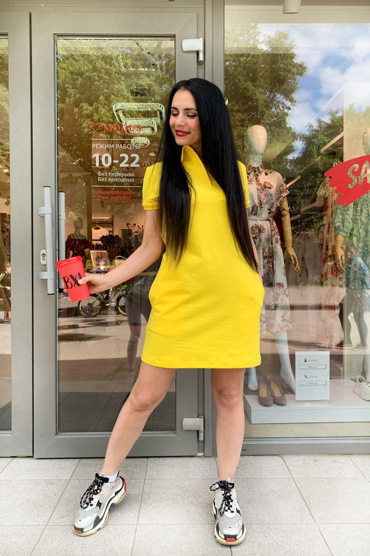 Платье Валео 9261 АРТ. 45601 Цвет: Желтый - фото 1, интернет магазин tm-modus.ru