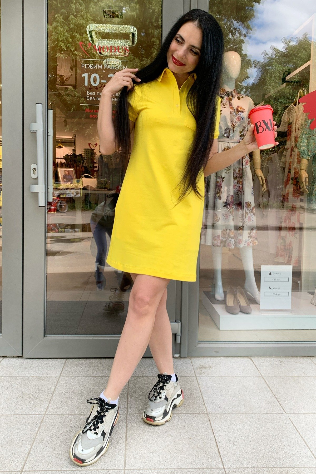 Платье Валео 9261 АРТ. 45601 Цвет: Желтый - фото 2, интернет магазин tm-modus.ru