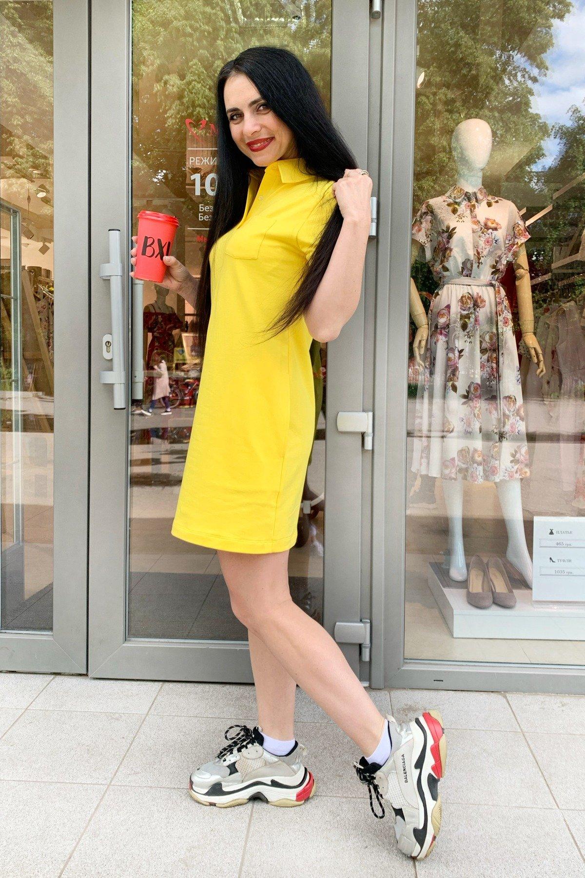 Платье Валео 9261 АРТ. 45601 Цвет: Желтый - фото 4, интернет магазин tm-modus.ru