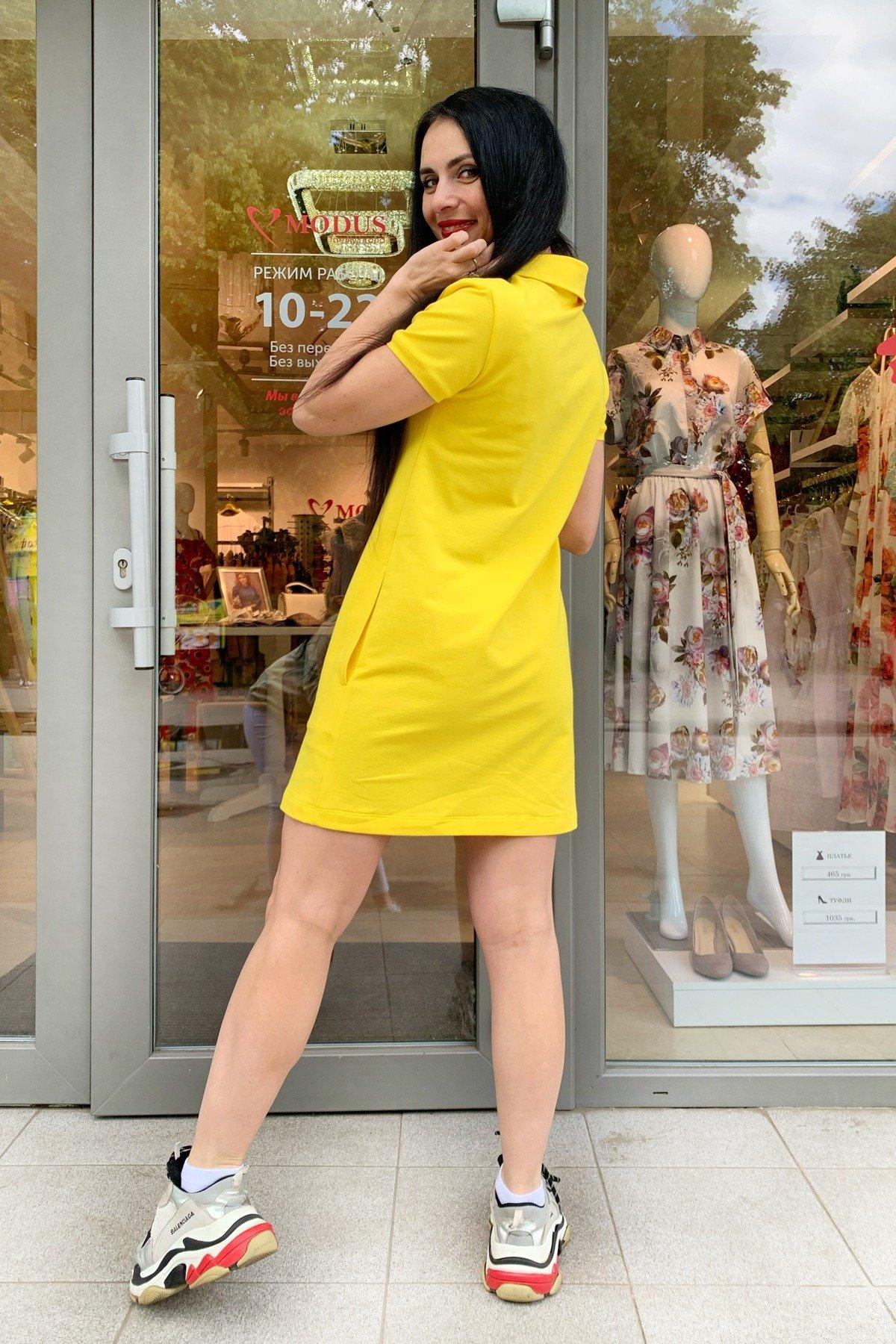 Платье Валео 9261 АРТ. 45601 Цвет: Желтый - фото 5, интернет магазин tm-modus.ru