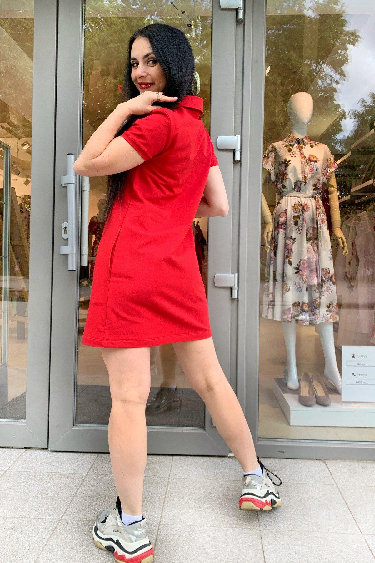 Платье Валео 9261 АРТ. 45600 Цвет: Красный - фото 2, интернет магазин tm-modus.ru