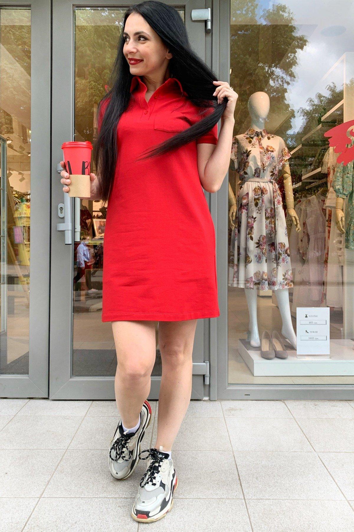 Платье Валео 9261 АРТ. 45600 Цвет: Красный - фото 3, интернет магазин tm-modus.ru