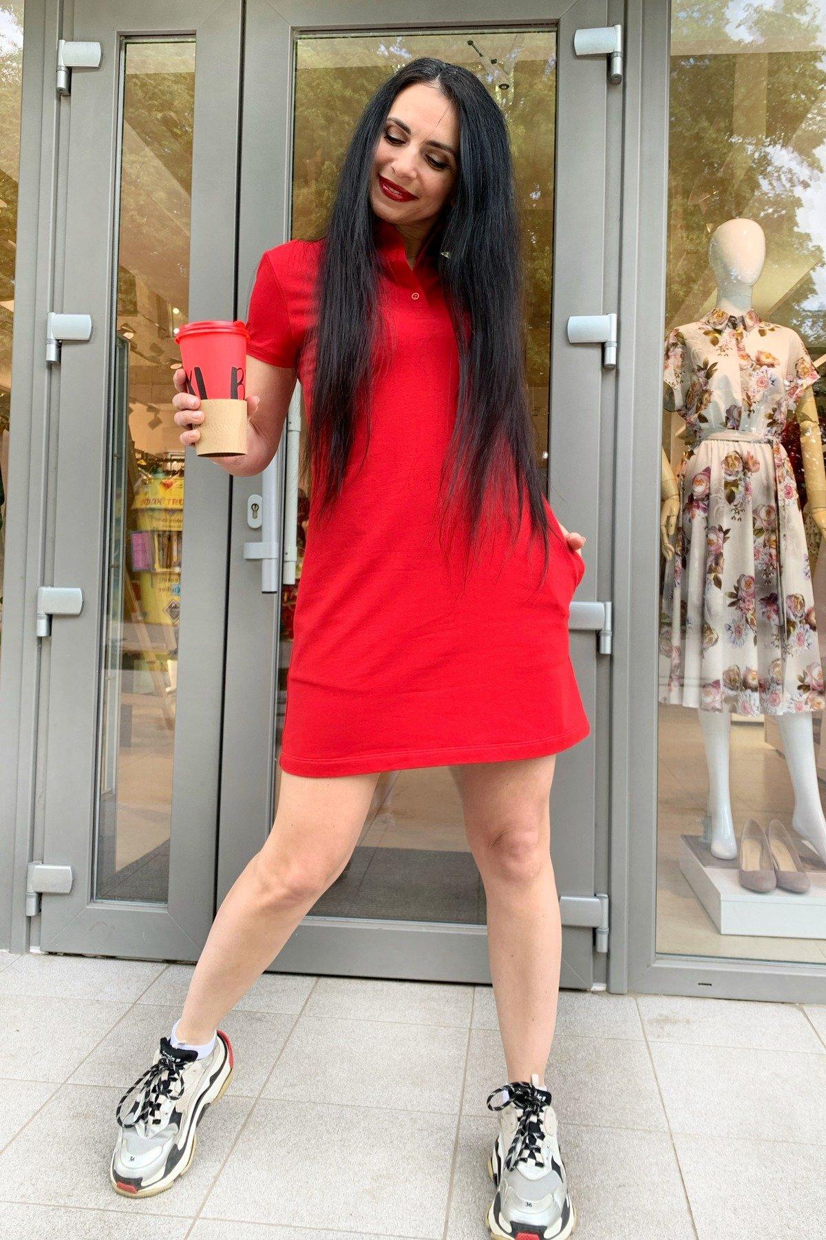 Платье Валео 9261 АРТ. 45600 Цвет: Красный - фото 4, интернет магазин tm-modus.ru