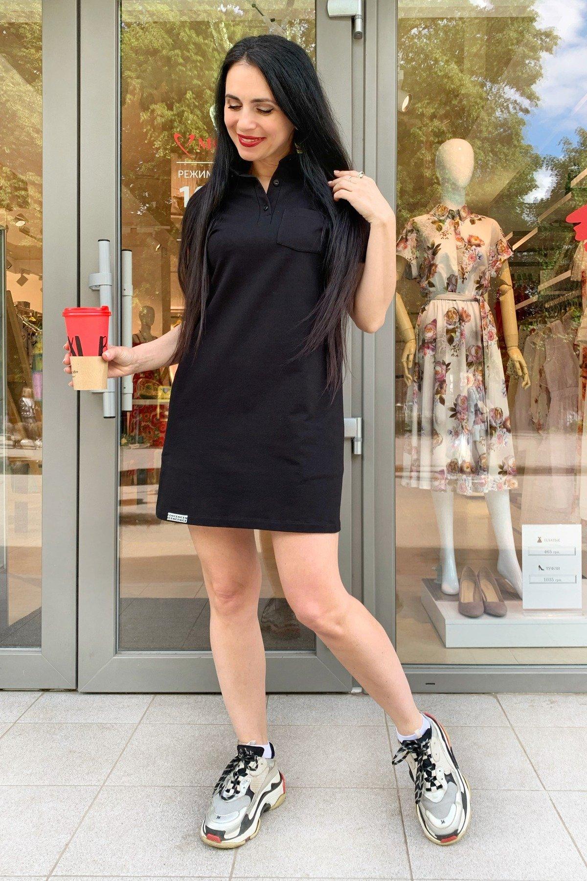 Платье Валео 9261 АРТ. 45596 Цвет: Черный - фото 1, интернет магазин tm-modus.ru