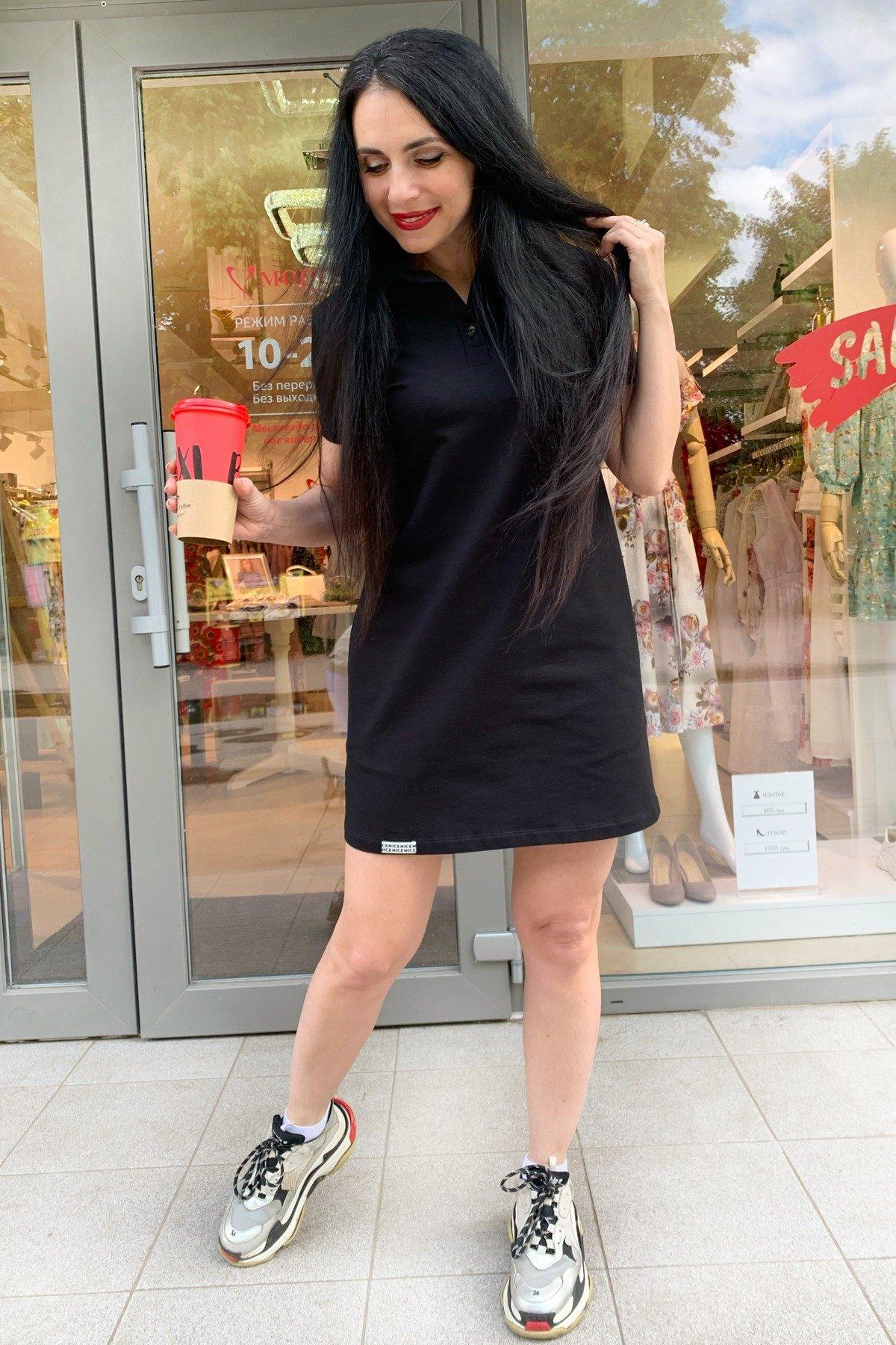 Платье Валео 9261 АРТ. 45596 Цвет: Черный - фото 2, интернет магазин tm-modus.ru