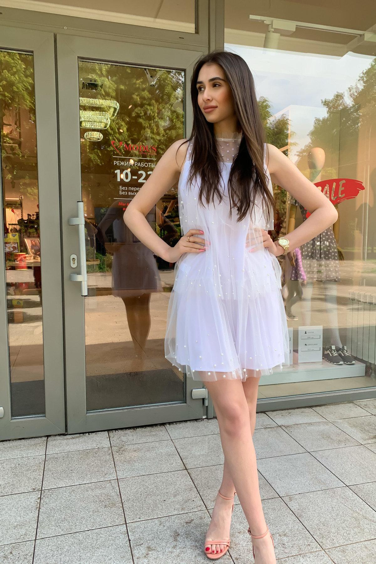 Платье Софт 9103 АРТ. 45423 Цвет: Белый - фото 4, интернет магазин tm-modus.ru