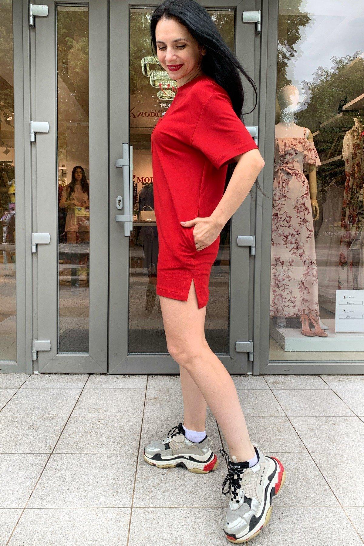 Платье Джома 9273 АРТ. 45610 Цвет: Красный - фото 3, интернет магазин tm-modus.ru