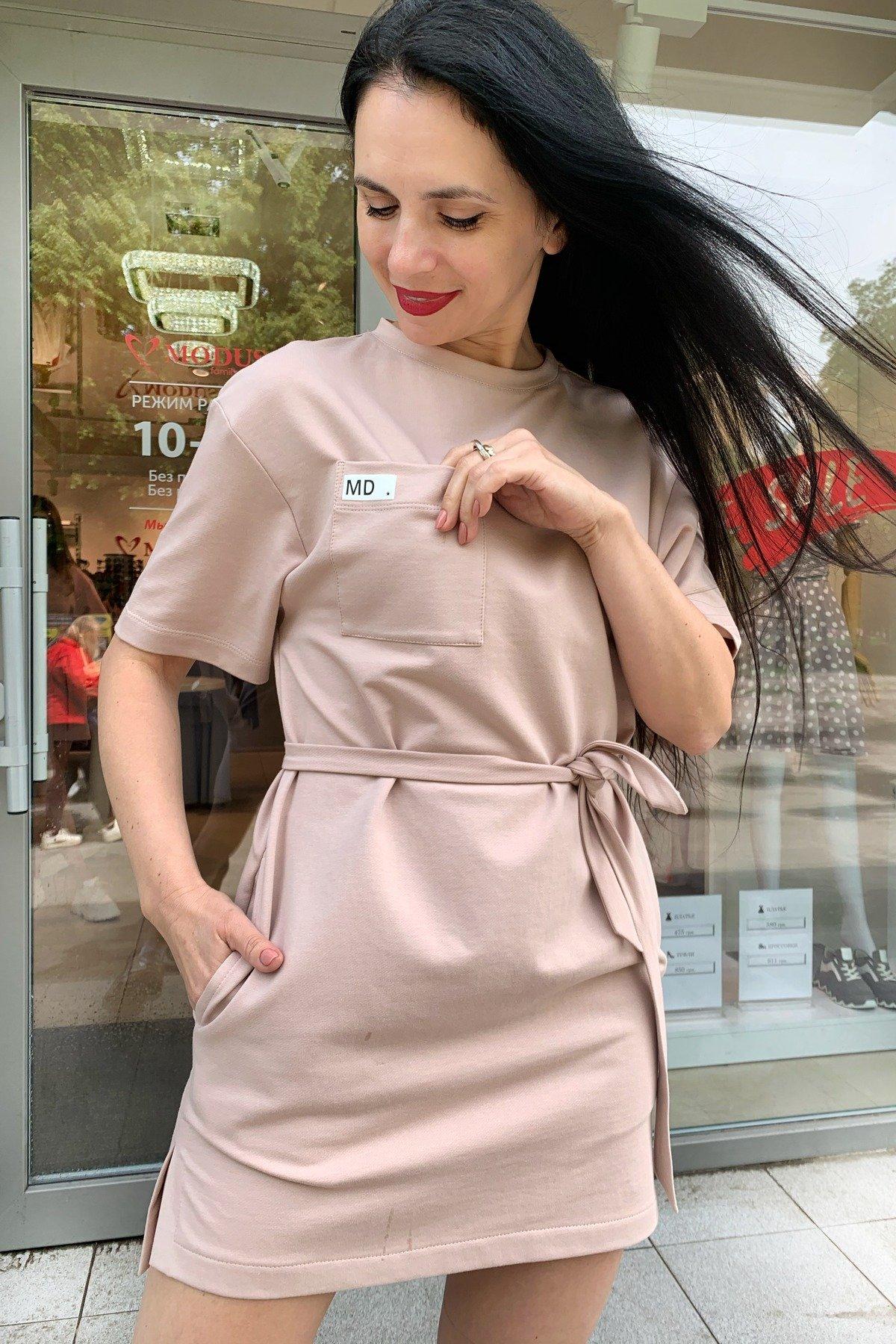 Платье Джома 9273 АРТ. 45614 Цвет: Бежевый - фото 3, интернет магазин tm-modus.ru