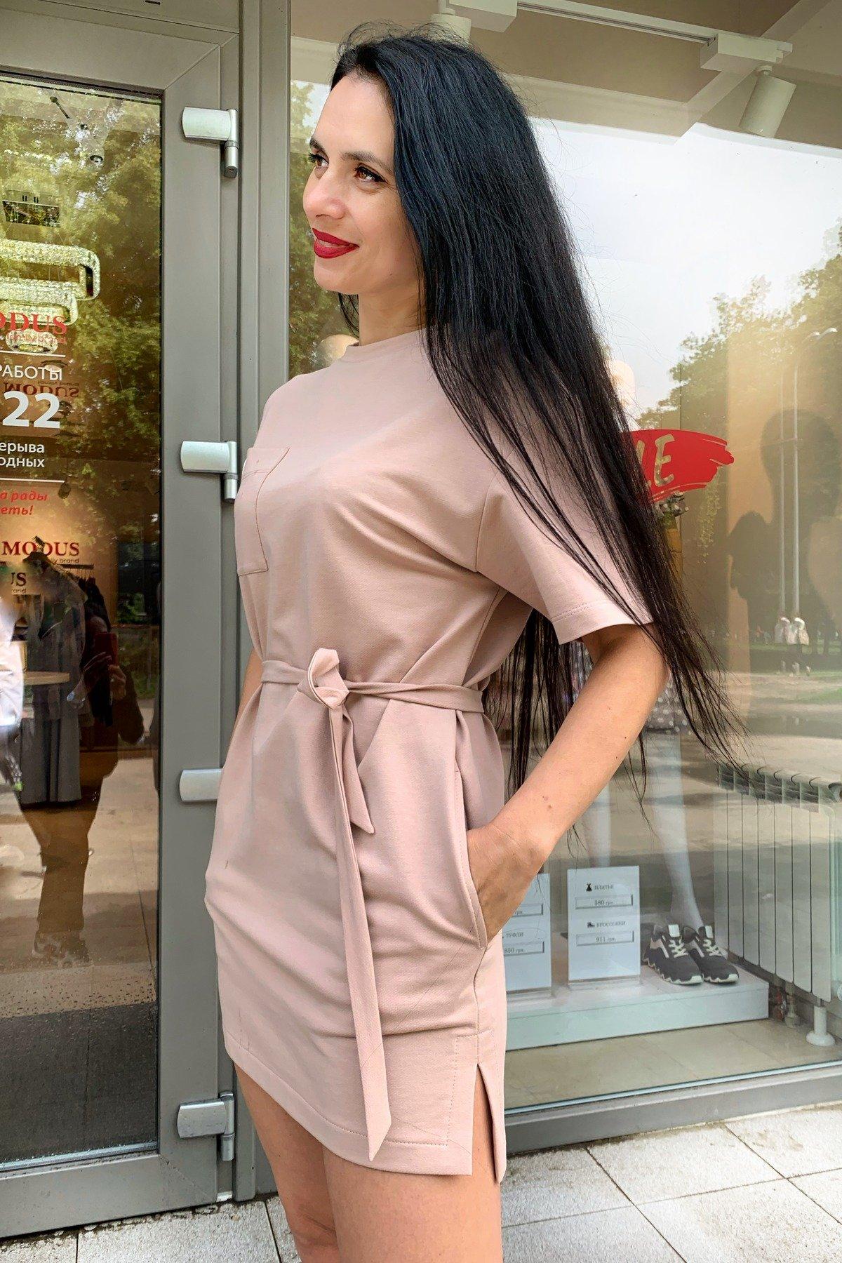 Платье Джома 9273 АРТ. 45614 Цвет: Бежевый - фото 4, интернет магазин tm-modus.ru