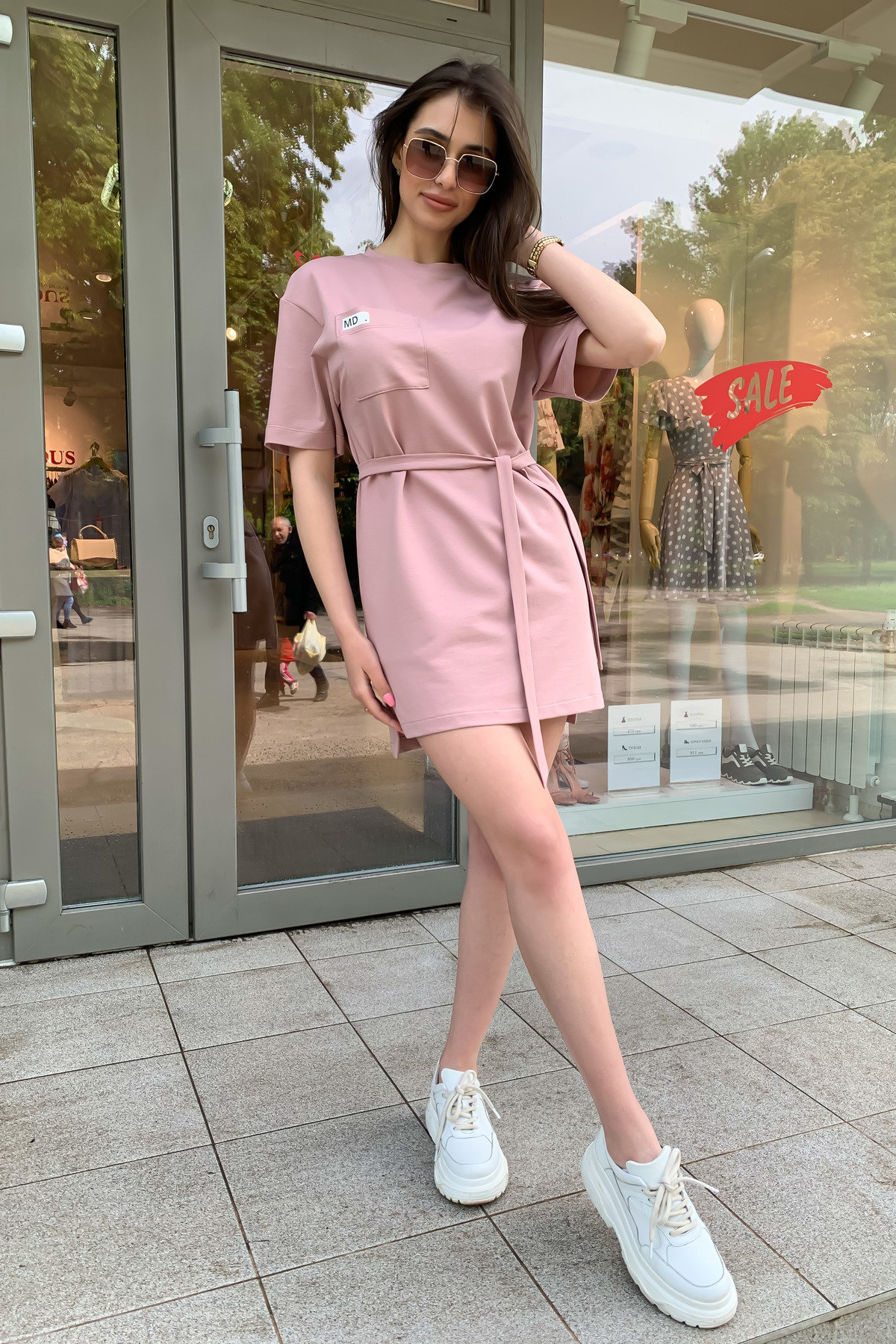 Платье Джома 9273 АРТ. 45613 Цвет: Пудра - фото 3, интернет магазин tm-modus.ru