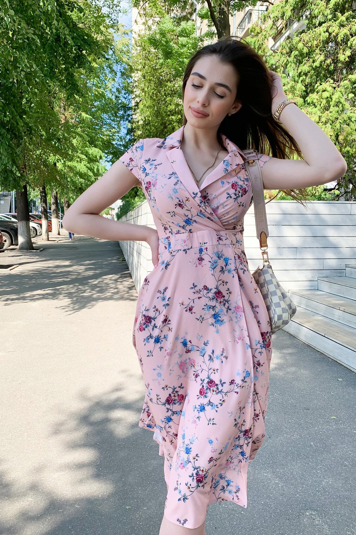 Малья миди софт принт платье 9088
