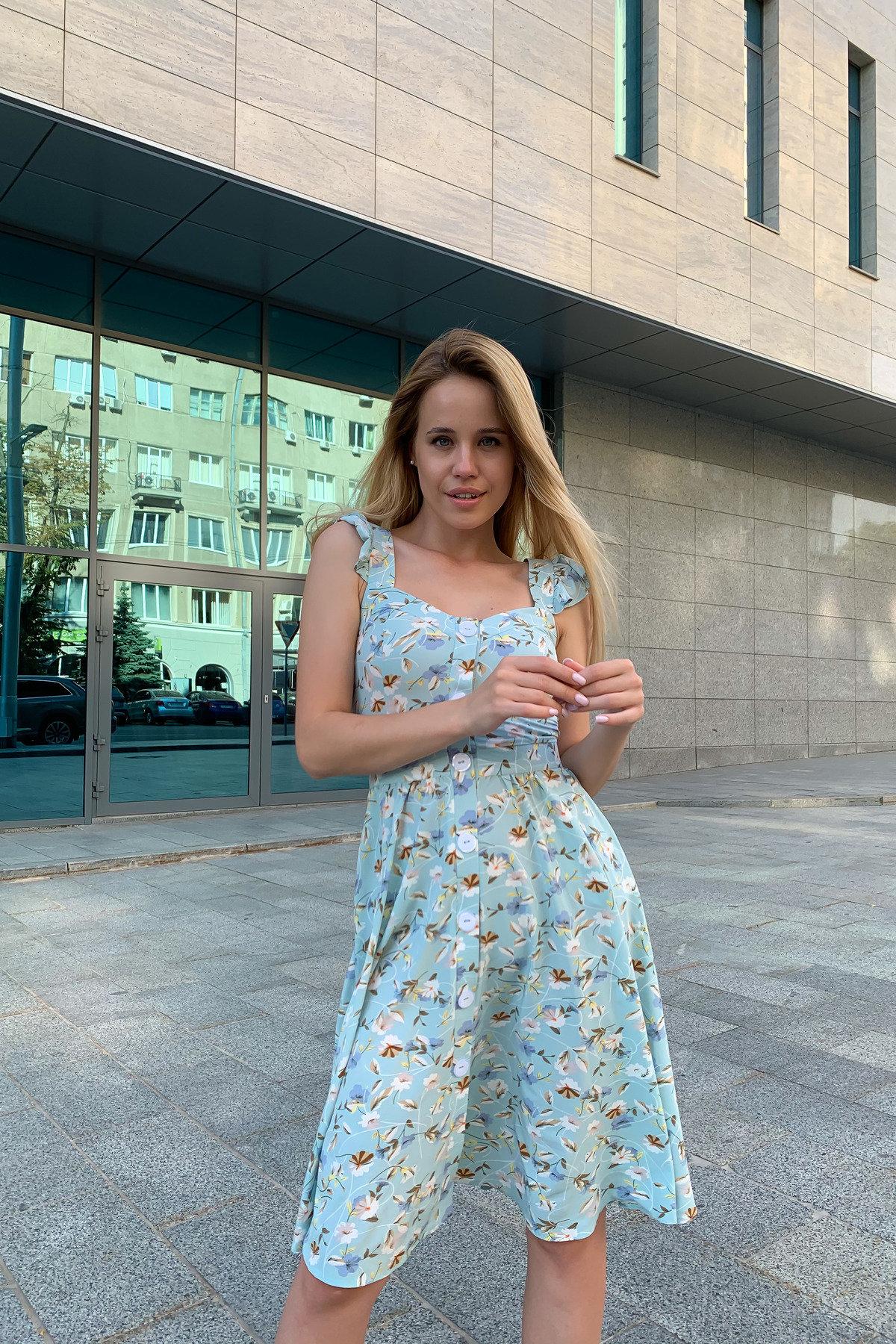 Ундина принт софт платье 9404