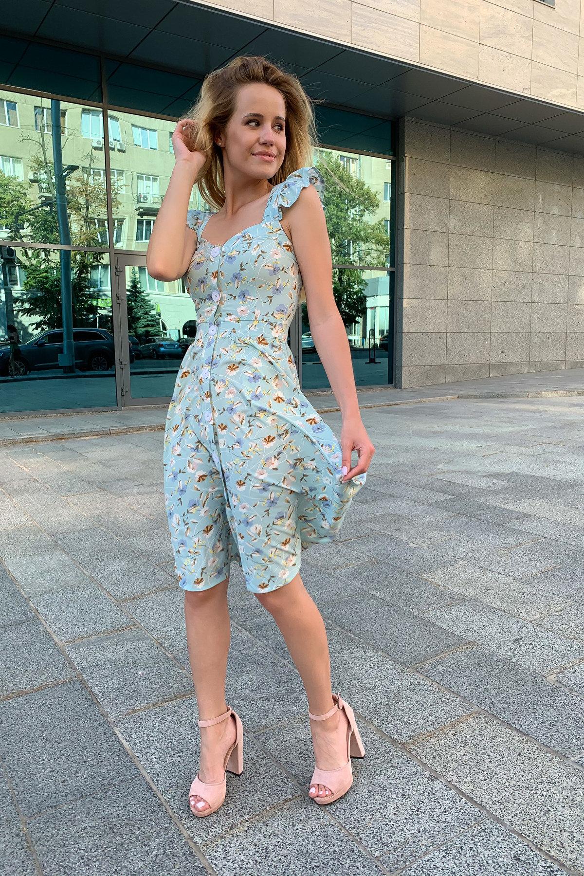 Платье Ундина 9404 АРТ. 45758 Цвет: цветы мел мята/молоко - фото 4, интернет магазин tm-modus.ru