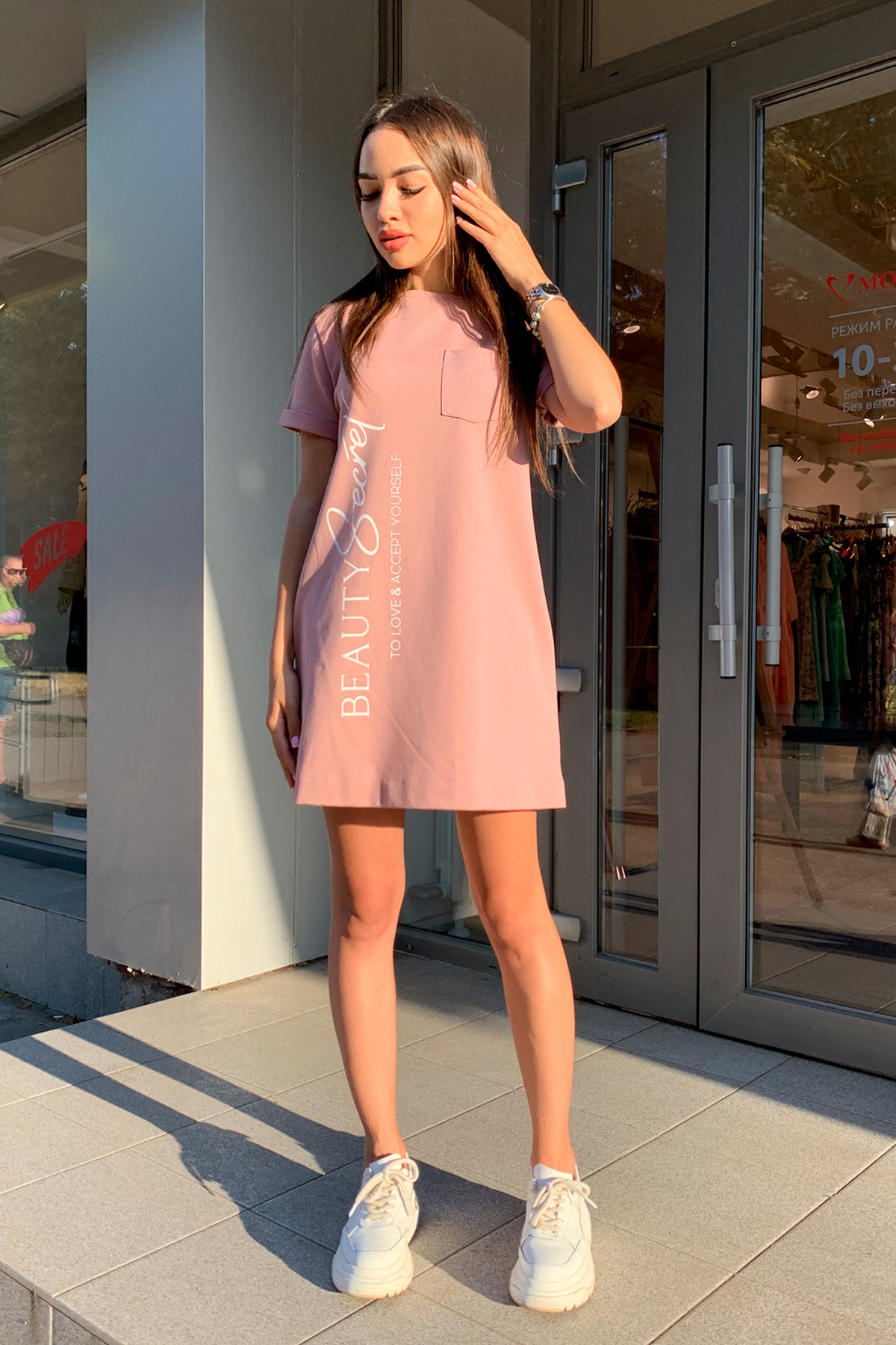 Платье Коди 9355 АРТ. 45730 Цвет: Пудра - фото 3, интернет магазин tm-modus.ru