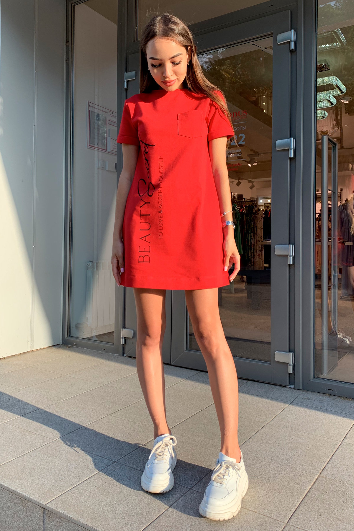 Платье Коди 9355 АРТ. 45733 Цвет: Красный - фото 1, интернет магазин tm-modus.ru