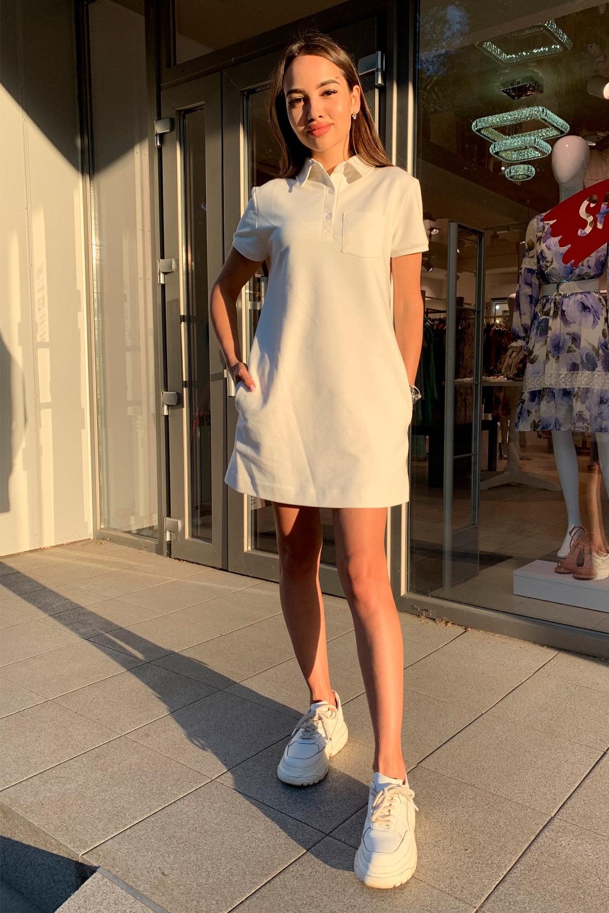 Платье Валео 9261 АРТ. 45686 Цвет: Молоко - фото 1, интернет магазин tm-modus.ru