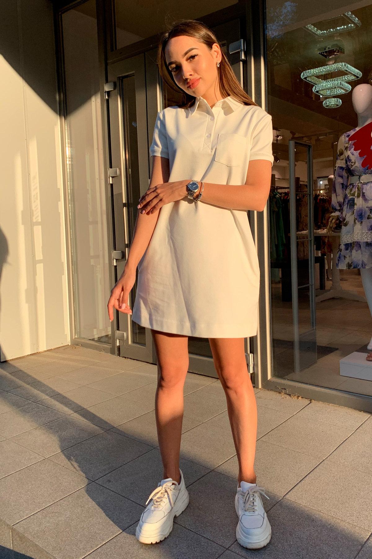 Платье Валео 9261 АРТ. 45686 Цвет: Молоко - фото 2, интернет магазин tm-modus.ru