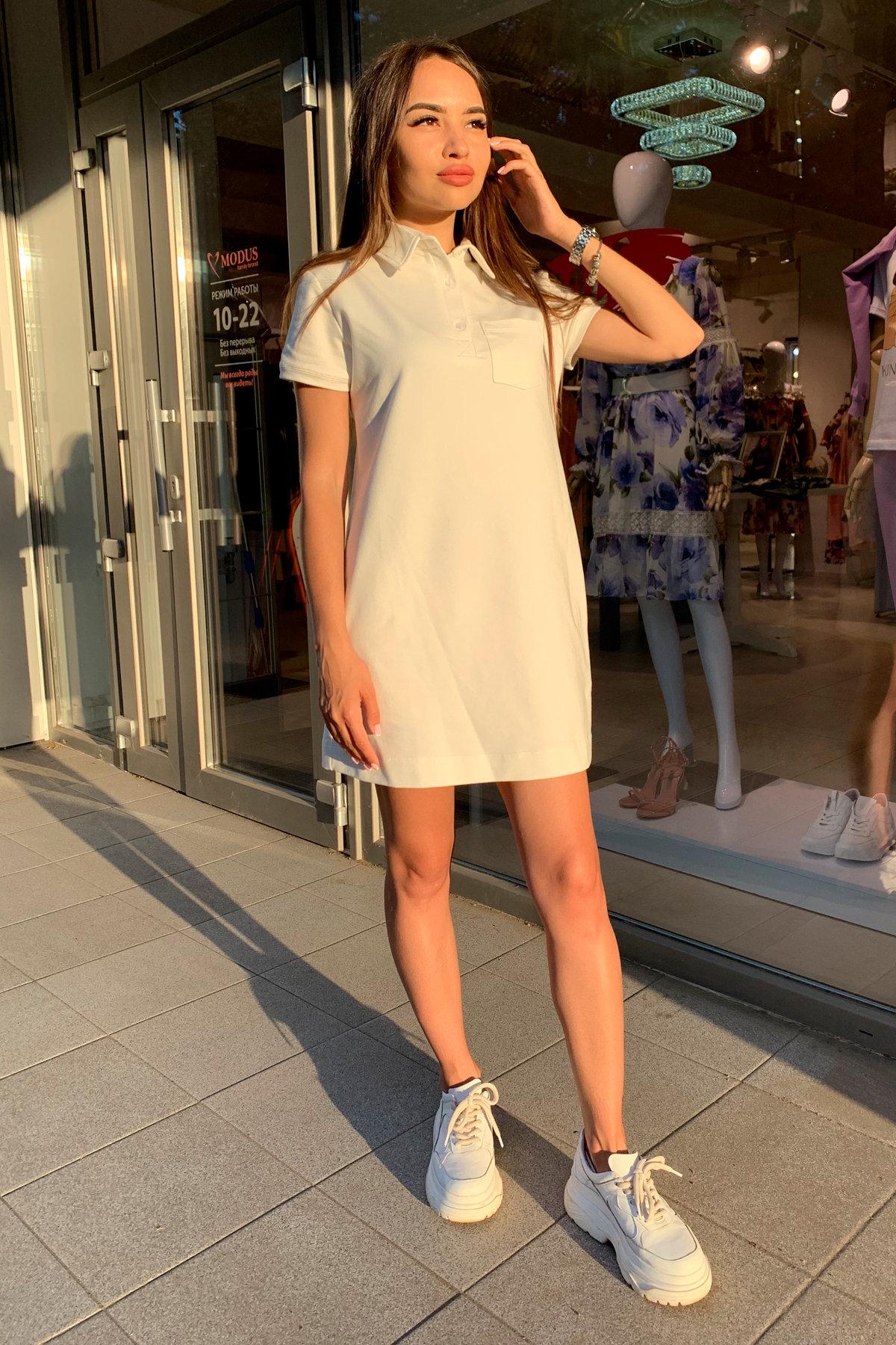 Платье Валео 9261 АРТ. 45686 Цвет: Молоко - фото 3, интернет магазин tm-modus.ru