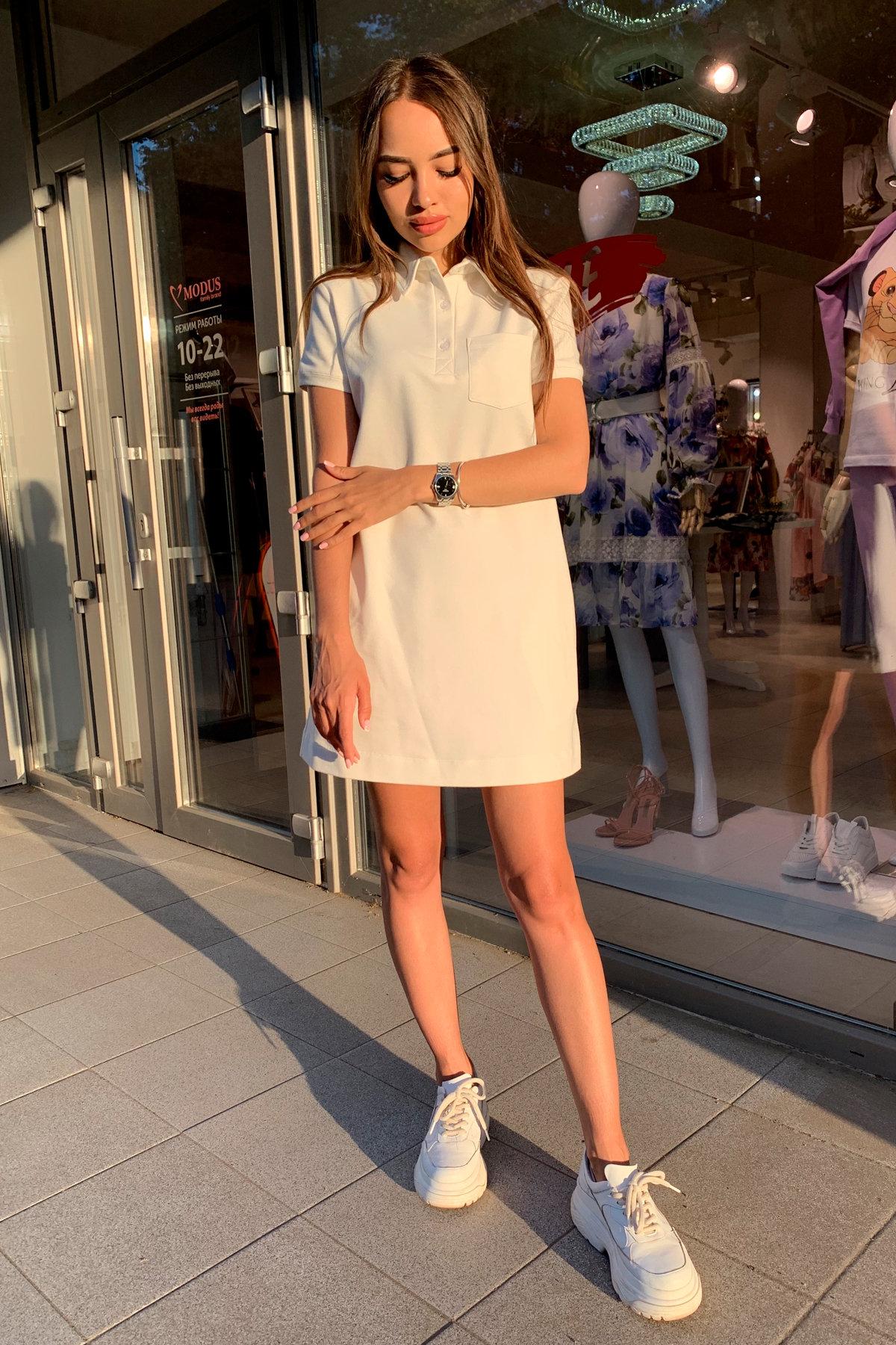 Платье Валео 9261 АРТ. 45686 Цвет: Молоко - фото 4, интернет магазин tm-modus.ru