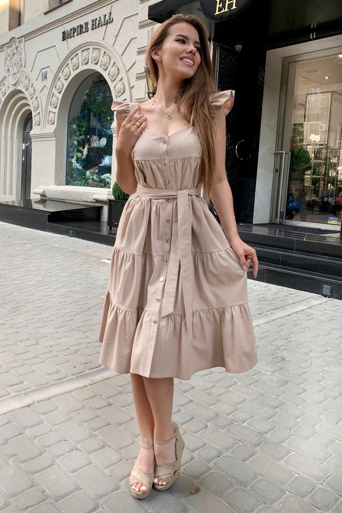 Платье Соло миди  9465 Цвет: Бежевый