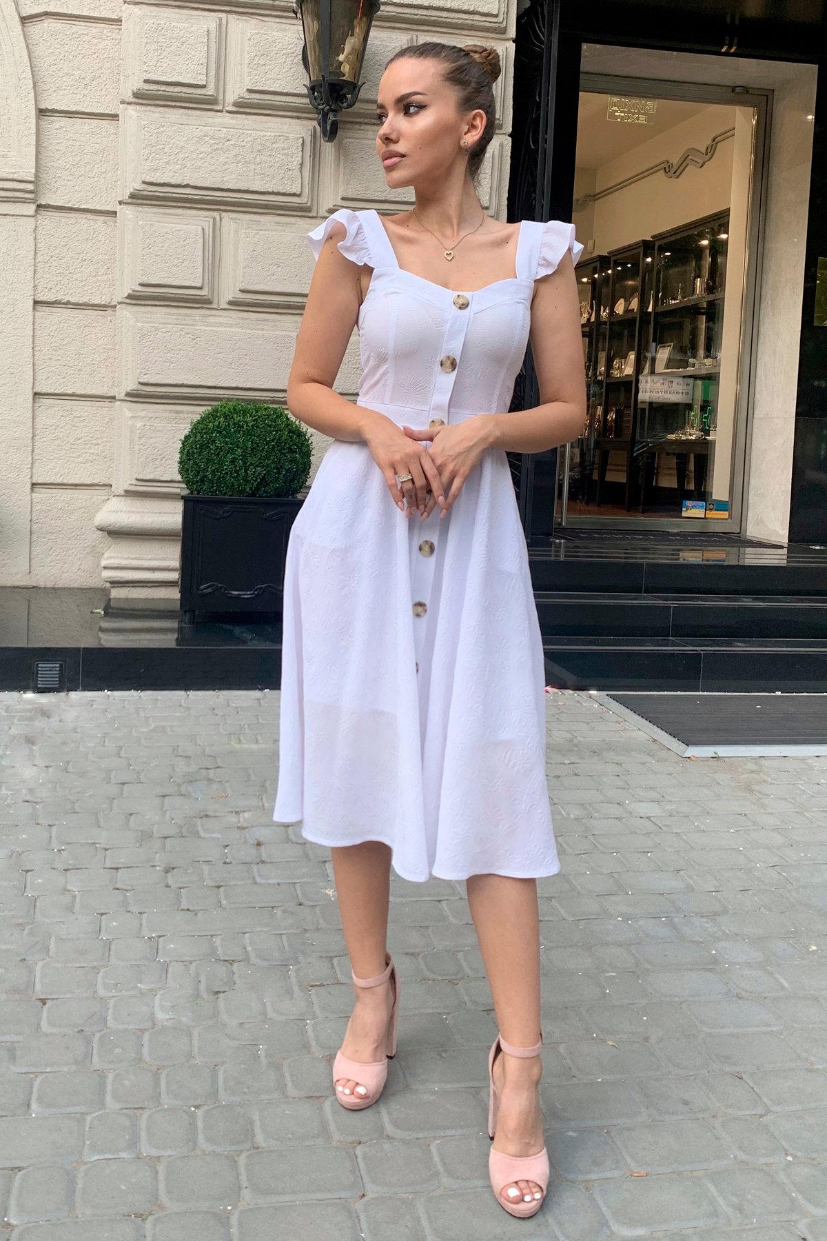 Платье Ундина 9441 АРТ. 45802 Цвет: Белый - фото 3, интернет магазин tm-modus.ru