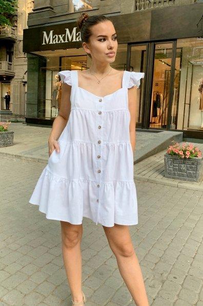 Купить Соло лен не стрейч платье 9455 оптом и в розницу