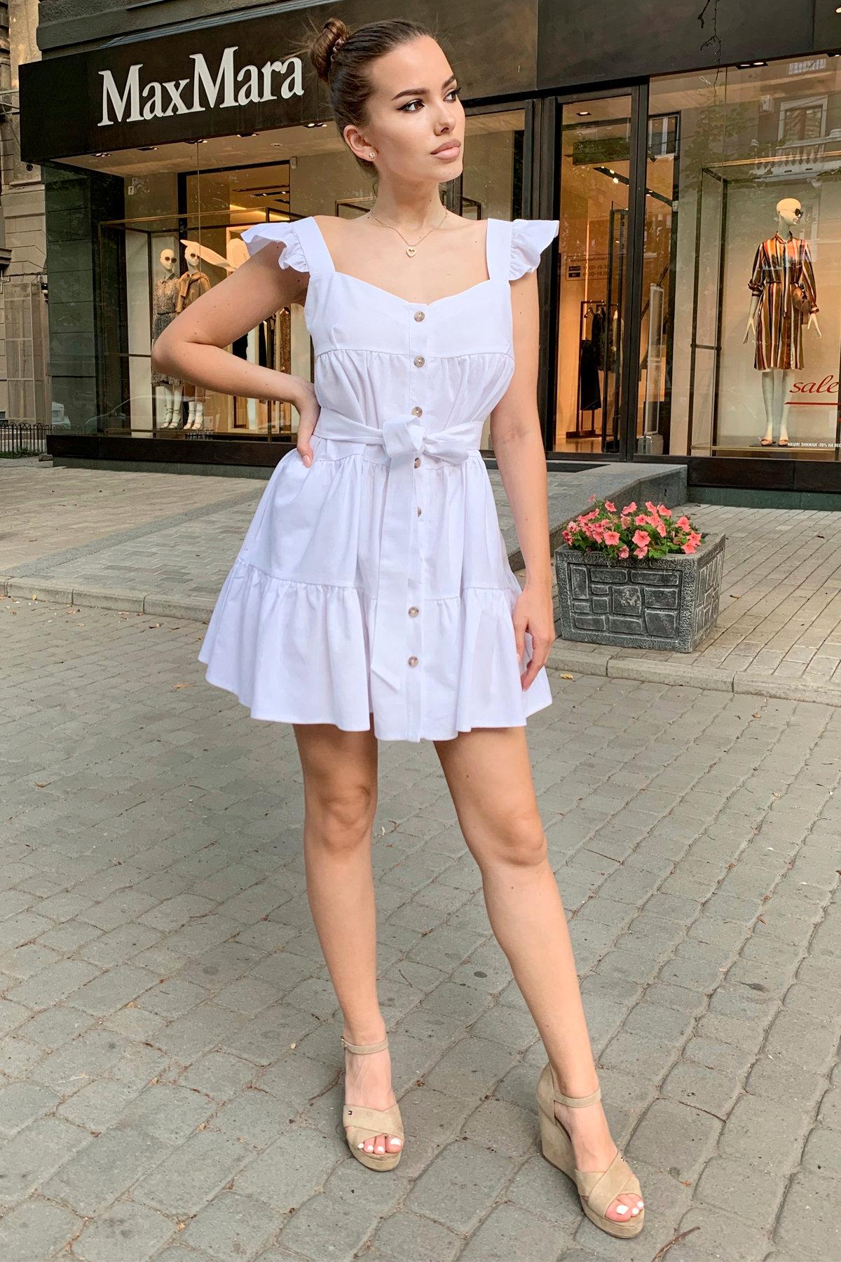 Платье Соло 9455 АРТ. 45812 Цвет: Белый - фото 5, интернет магазин tm-modus.ru