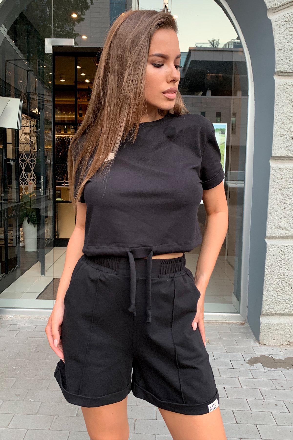 Фреш  костюм трикотажный двунитка тонкий 9252 АРТ. 45590 Цвет: Черный - фото 3, интернет магазин tm-modus.ru