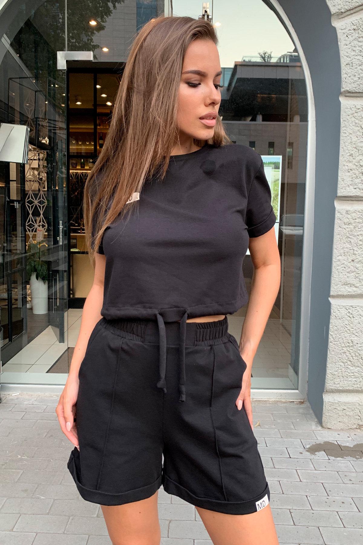 Фреш  костюм трикотажный двунитка тонкий 9252 АРТ. 45590 Цвет: Черный - фото 5, интернет магазин tm-modus.ru