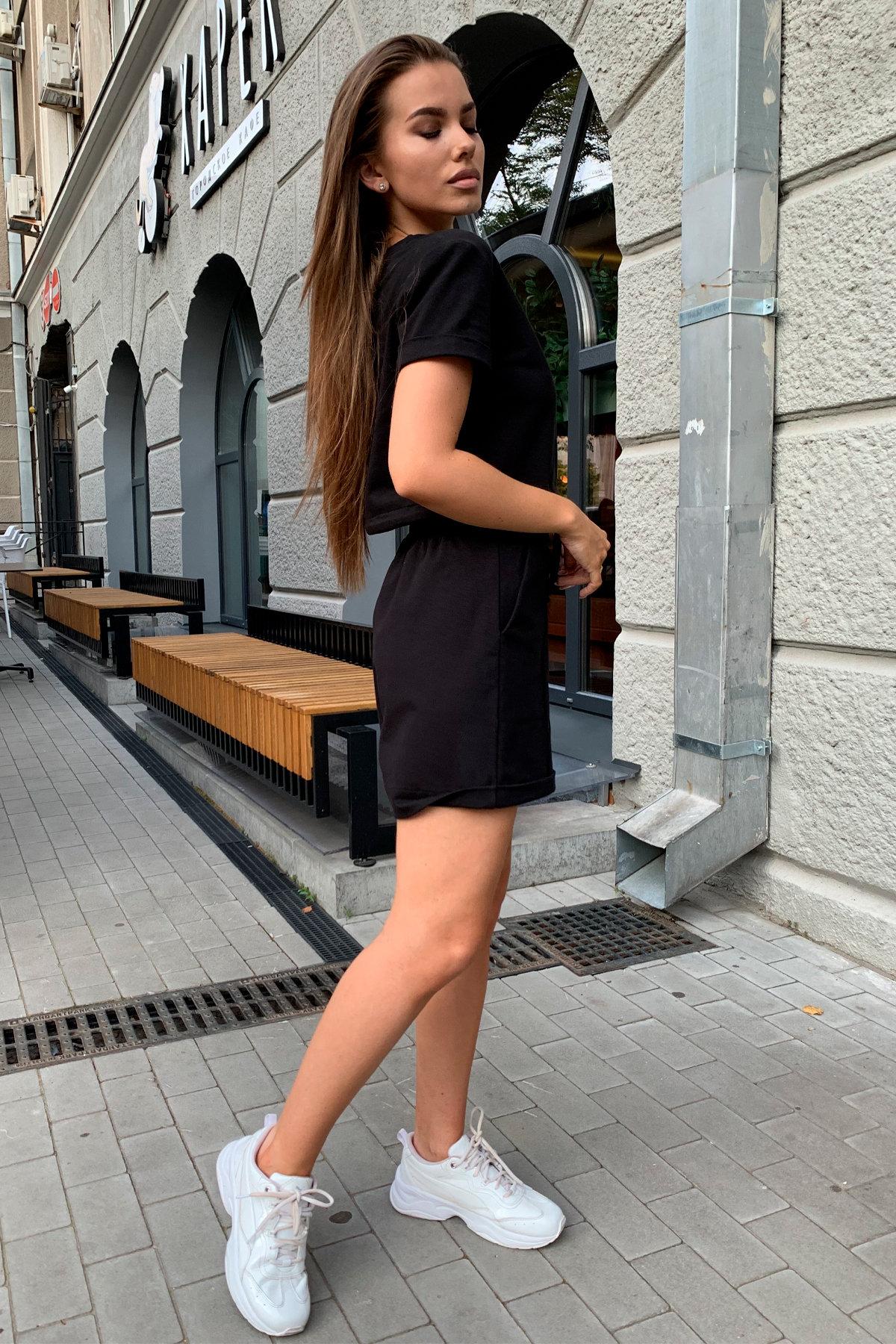 Фреш  костюм трикотажный двунитка тонкий 9252 АРТ. 45590 Цвет: Черный - фото 6, интернет магазин tm-modus.ru