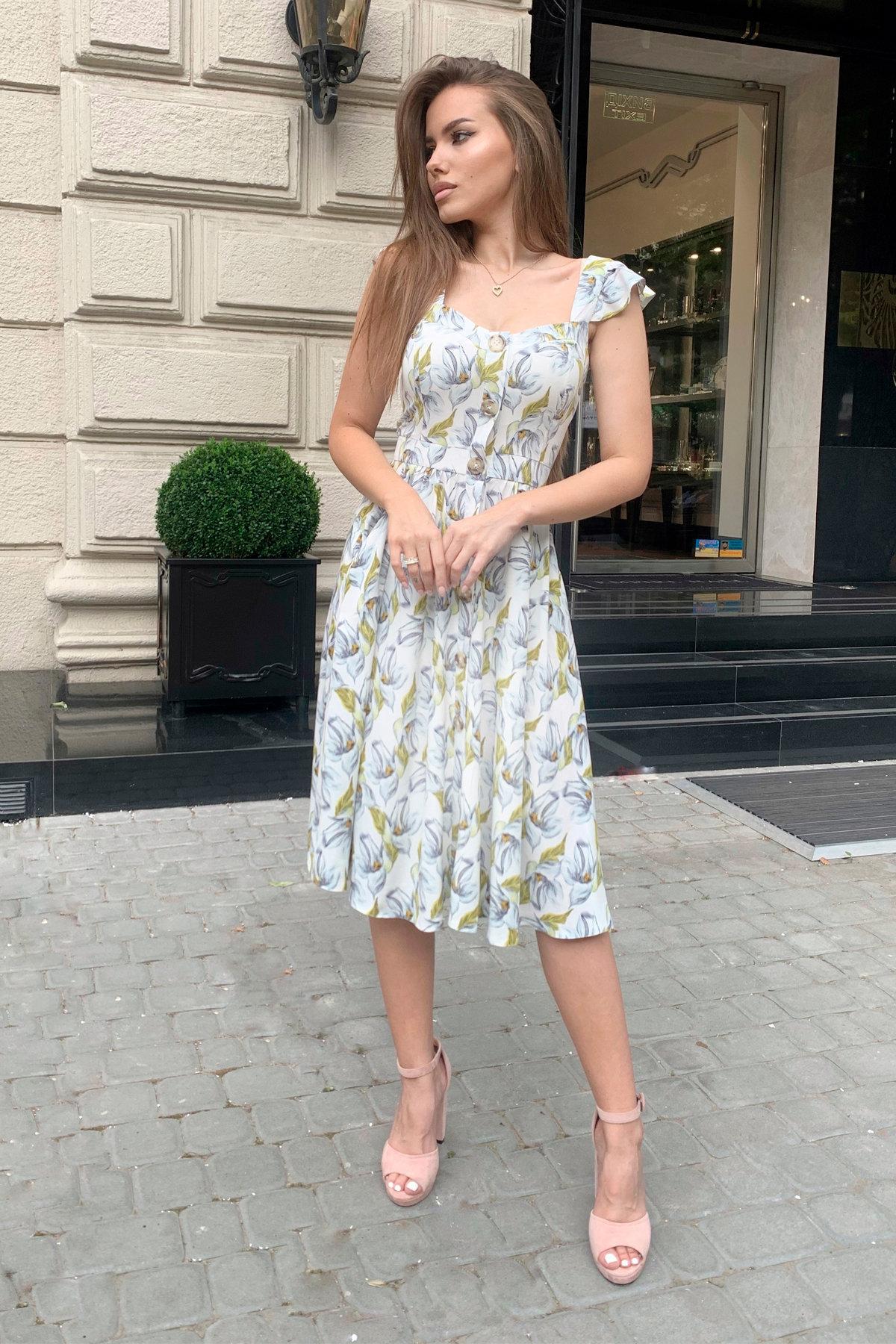 Платье Ундина 9404 АРТ. 45800 Цвет: Цветы голубой/молоко - фото 6, интернет магазин tm-modus.ru