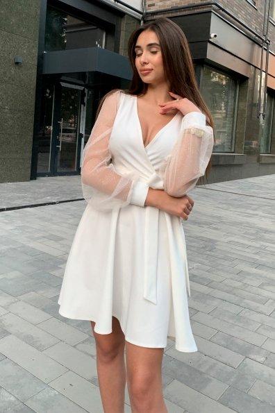 Коктейльное платье Джелла 8873 Цвет: Молоко