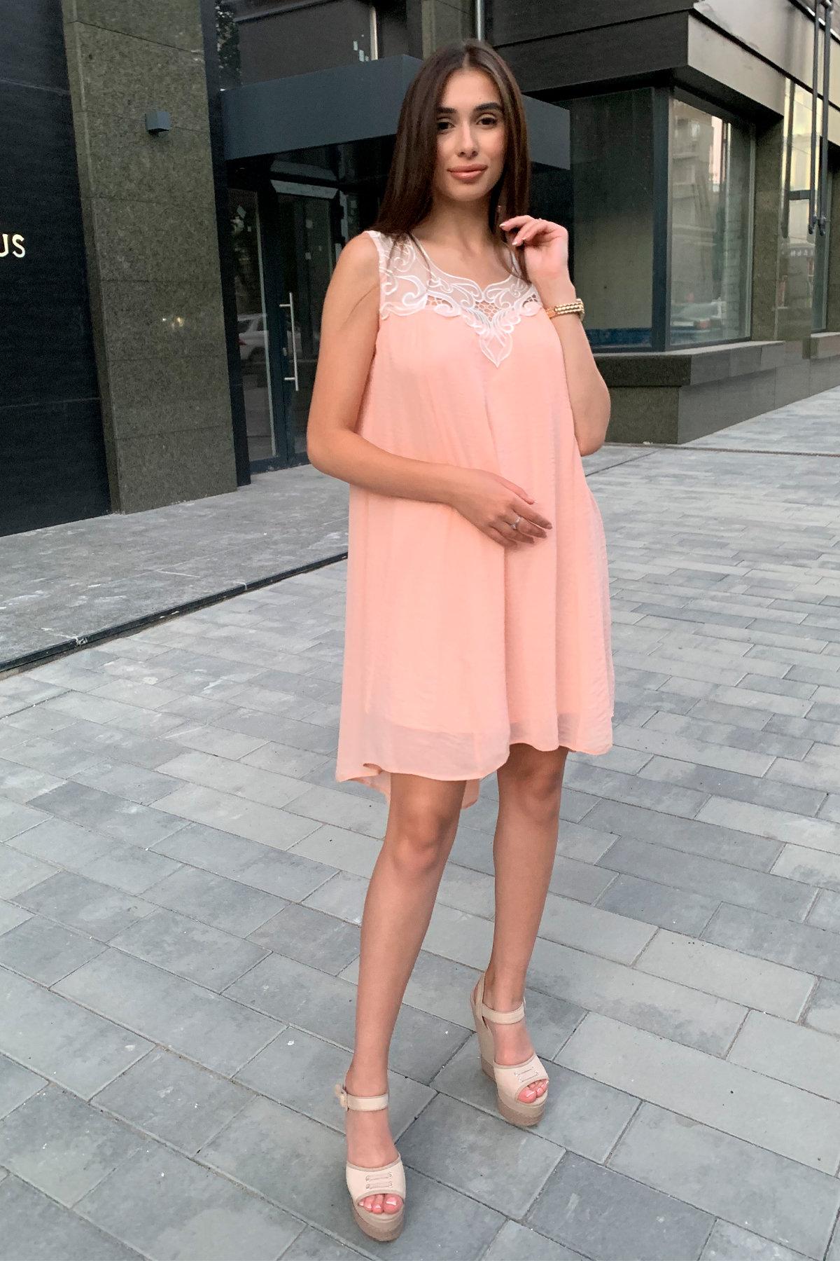 Платье Альбина 3110 АРТ. 16062 Цвет: Персик - фото 2, интернет магазин tm-modus.ru
