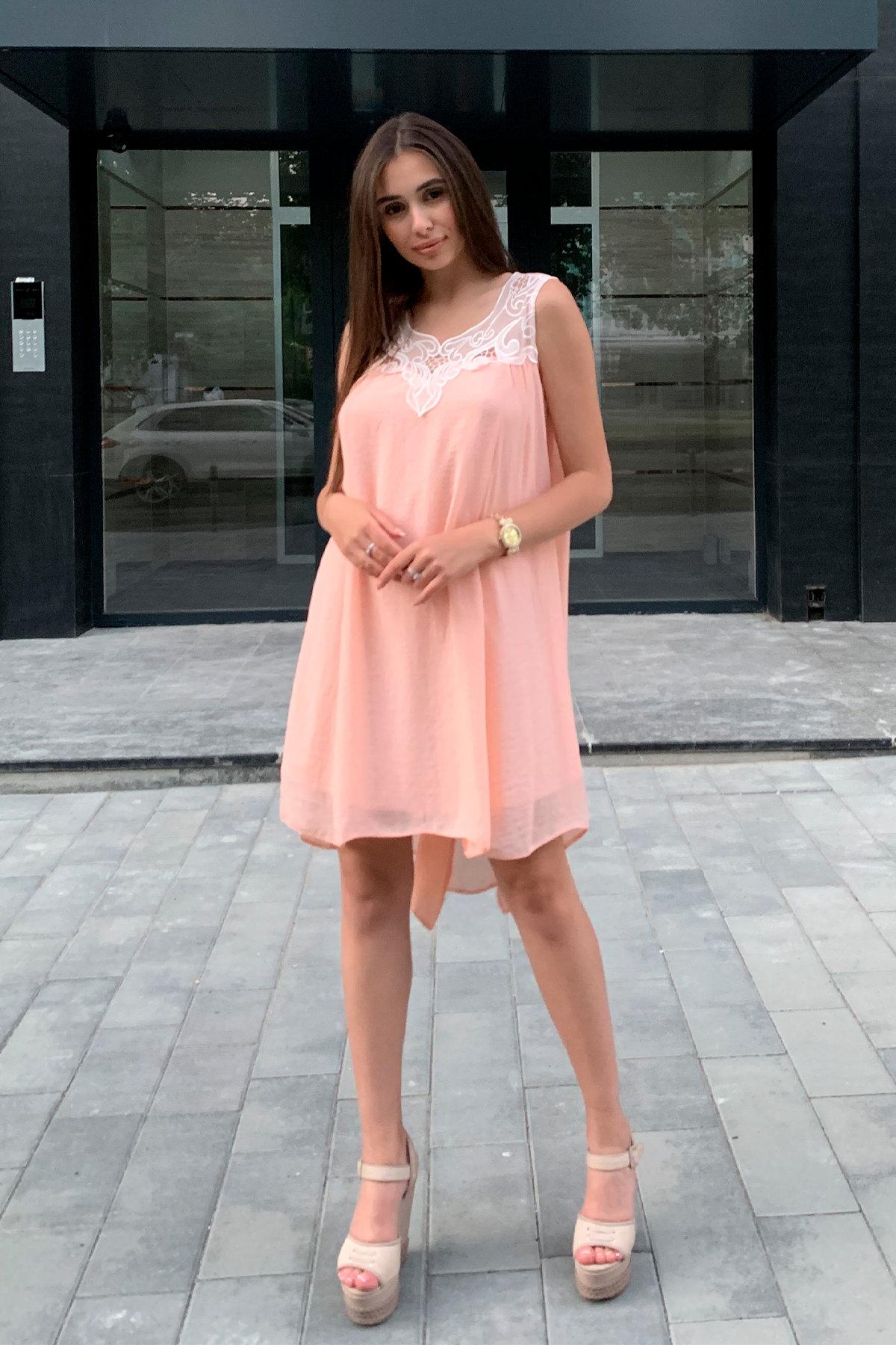 Платье Альбина 3110 АРТ. 16062 Цвет: Персик - фото 6, интернет магазин tm-modus.ru