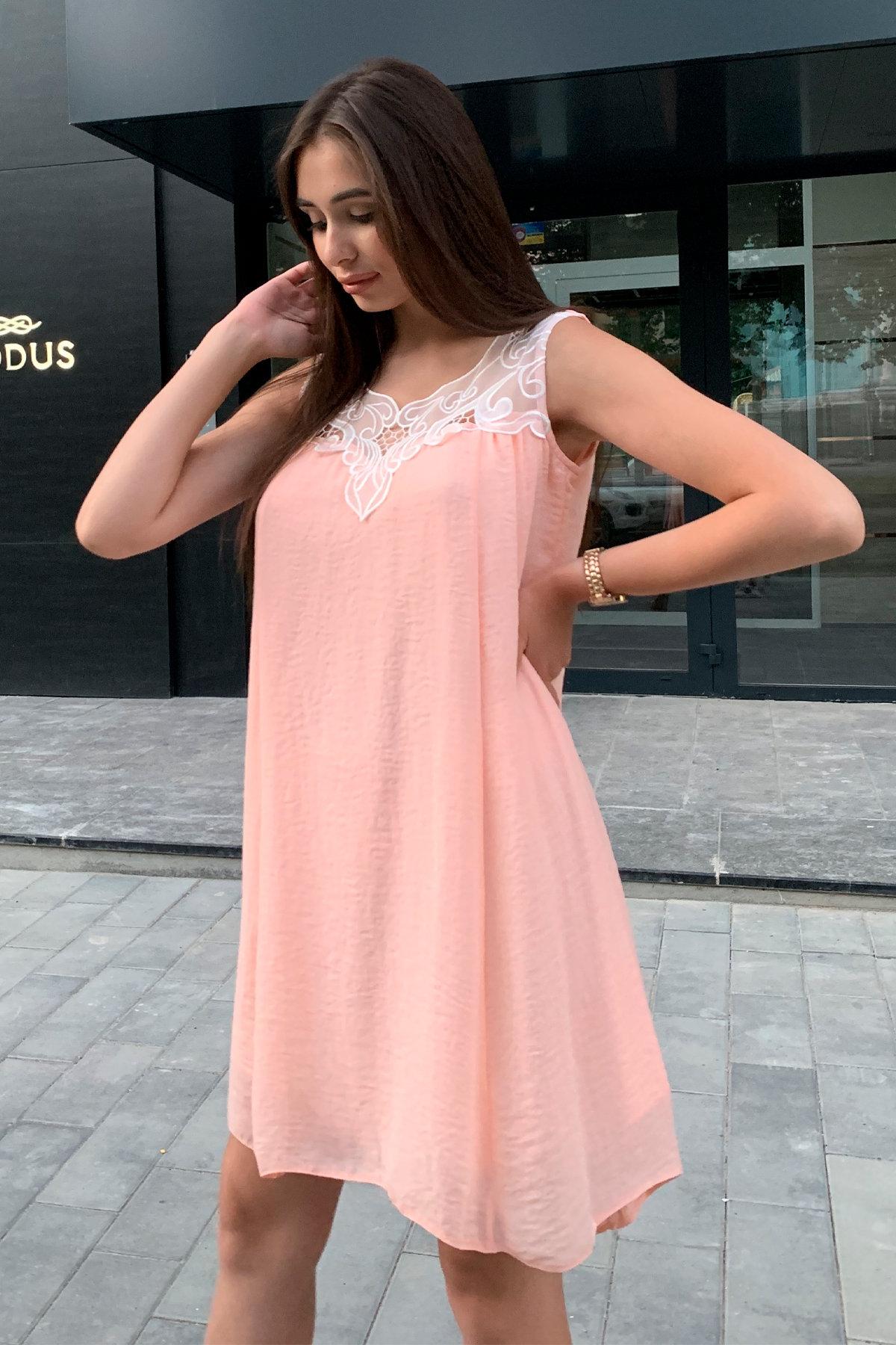 Платье Альбина 3110 АРТ. 16062 Цвет: Персик - фото 7, интернет магазин tm-modus.ru