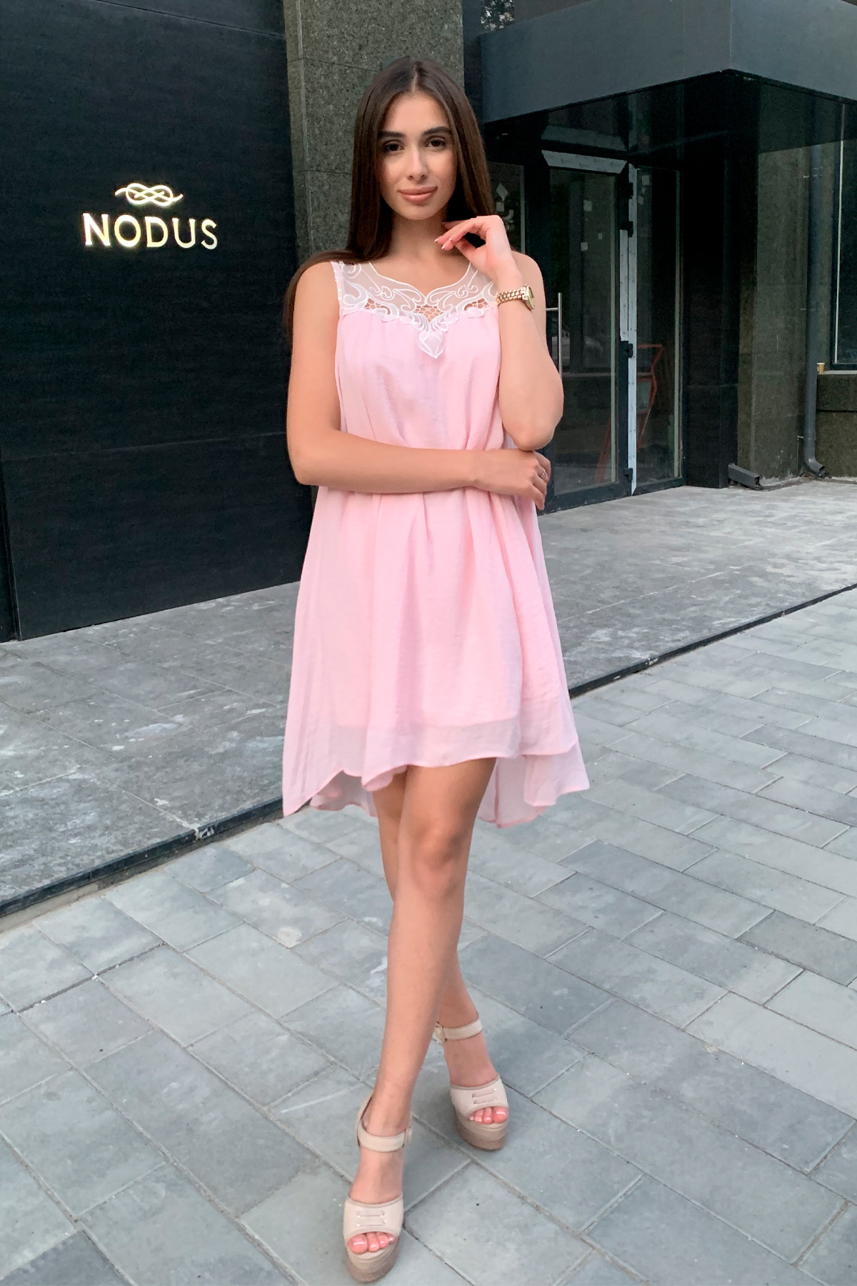 Платье Альбина 3110 АРТ. 16102 Цвет:  Розовый Светлый - фото 1, интернет магазин tm-modus.ru