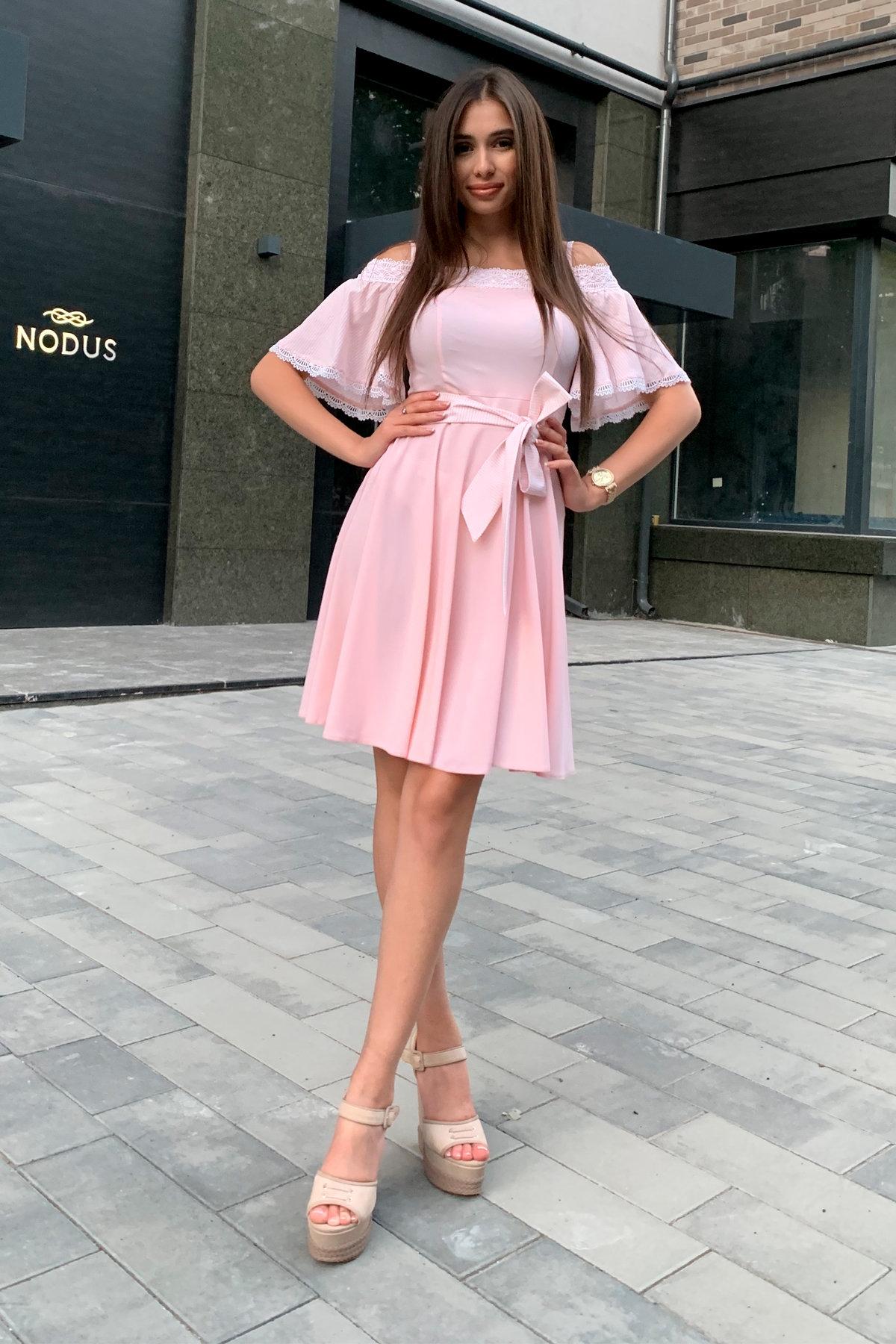 Платье Виолетта 4984 АРТ. 36124 Цвет: Пудра/молоко полоска 1 - фото 4, интернет магазин tm-modus.ru