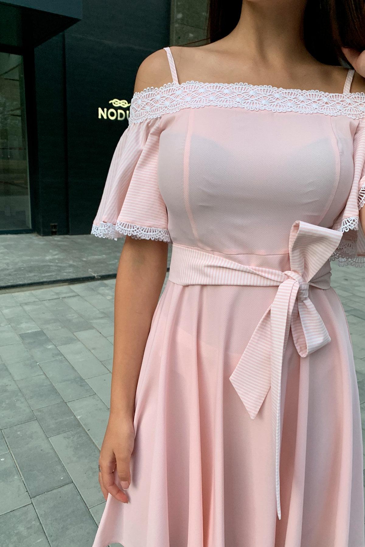Платье Виолетта 4984 АРТ. 36124 Цвет: Пудра/молоко полоска 1 - фото 5, интернет магазин tm-modus.ru