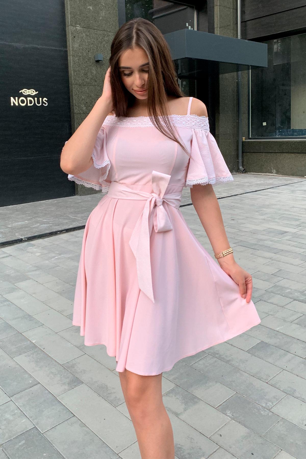 Платье Виолетта 4984 АРТ. 36124 Цвет: Пудра/молоко полоска 1 - фото 9, интернет магазин tm-modus.ru
