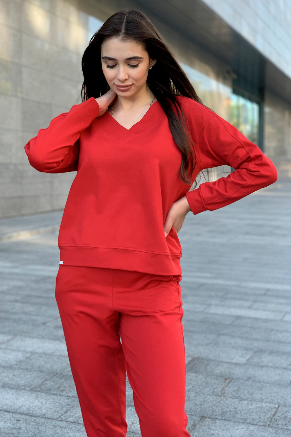 Костюм Стай 9342 АРТ. 45693 Цвет: Красный - фото 3, интернет магазин tm-modus.ru