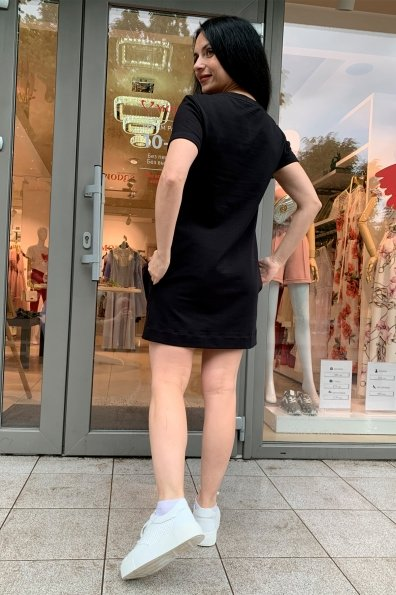 Коди принт трикотаж двунитка турция тонкий платье 9355