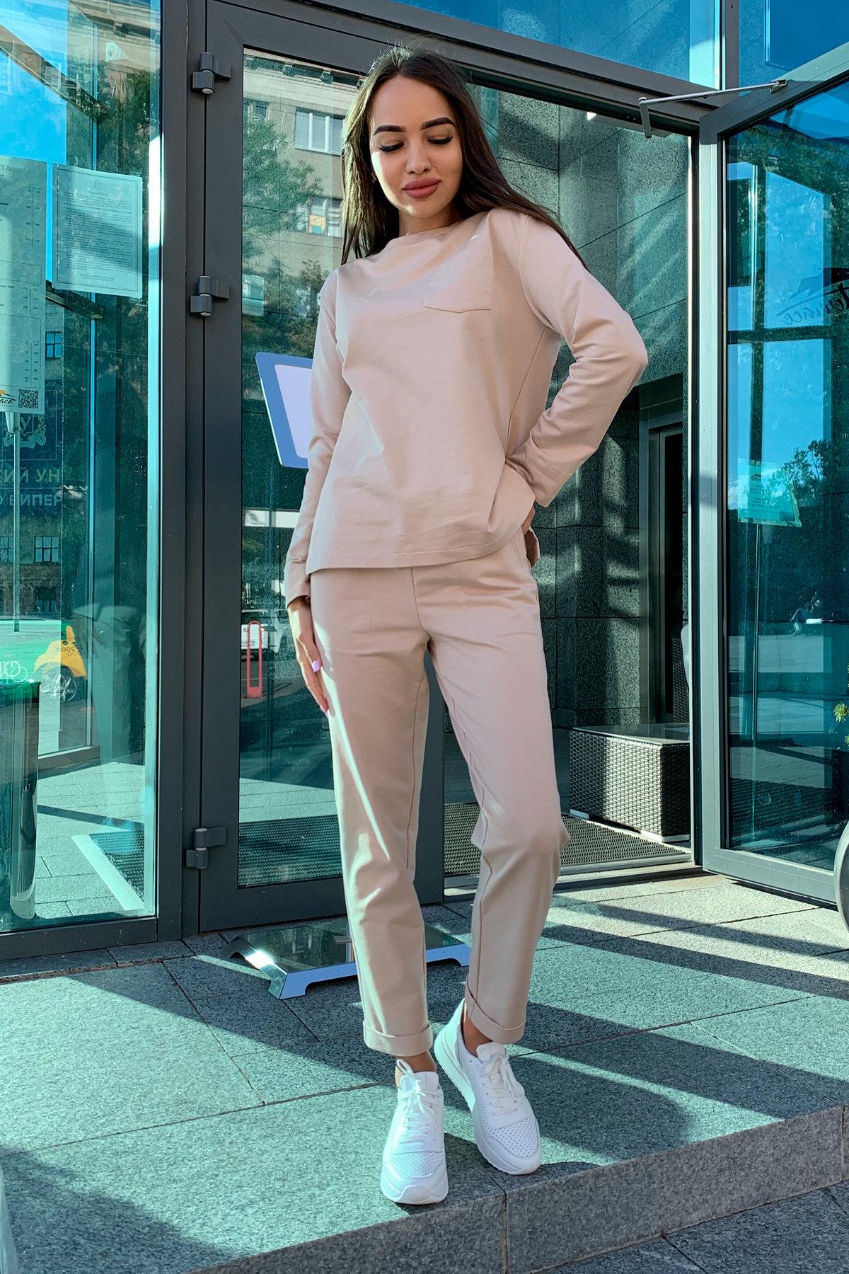 Мови  прогулочный костюм из трикотажа двунитка  9546 АРТ. 45876 Цвет: Бежевый - фото 3, интернет магазин tm-modus.ru